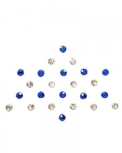 Comet Busters Diamond Collection Small Stone Blue Silver Bindi