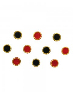 Comet Busters Red and Black Round Bindi