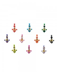 Comet Busters Traditional Multicolor Bindi