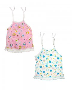 Comet Busters Cute New Born Baby Rope Knot Dresses (Set of 2) 0-6 months