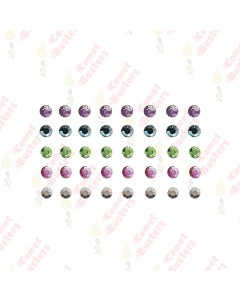 Comet Busters Multicolored Rhinestone Bindis (4 mm)