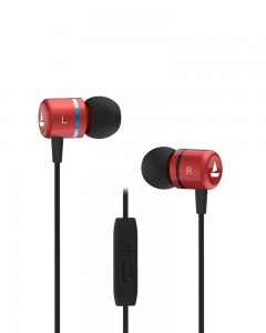 Boat Bassheads 107 Wired Earphones with in-Built mic (Red)
