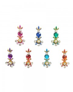Comet Busters Multicolor Party Wear Diamond Studded Bindi
