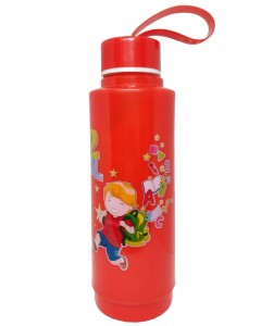 Comet Busters Red Printed Insulated Water Bottle For Kids (600 ML)