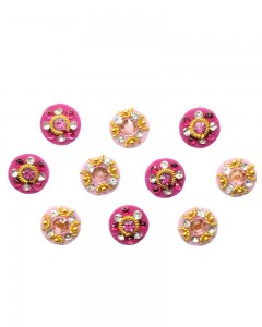 Comet Busters Beautiful Traditional Pink Round Bindi