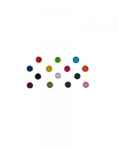 Comet Busters Multicolor Velevet Bindis With Stone Border