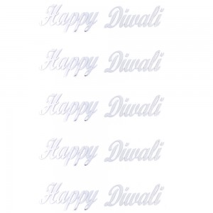 Comet Busters Silver Happy Diwali Gift Stickers for Envelopes, Gift Bags, Diwali Decorations (STK014)