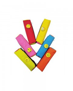 Comet Busters Bright Color Multipurpose Smiley Pen Pencil Pouches for Return Gifts
