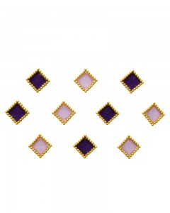 Comet Busters Purple Pink Square Bindi