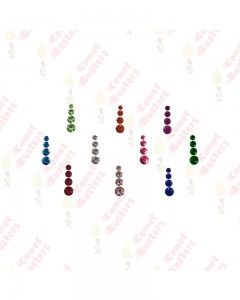 Comet Busters Multicolored Four Stones Diamond Bindis