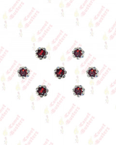 Comet Busters Traditional Maroon Stone Bindi With Border