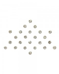 Comet Busters Diamond Collection Small Stone Silver Bindi