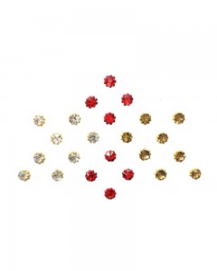 Comet Busters Diamond Collection Red Gold Bindi