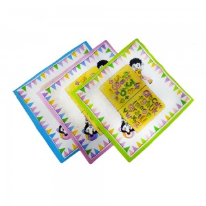 Comet Busters Cute Printed Kids Educational Handkerchiefs (Set of 3, Numbers and Alphabets) HK-02