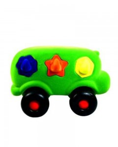 Rubbabu - The Shape Sorter Bus Large (Green)