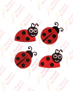 Comet Busters Cute Ladybird Multipurpose Stickers