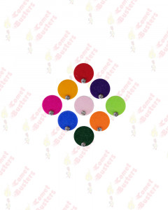 Comet Busters Multicolor Round Bindi With Stone (9 mm)