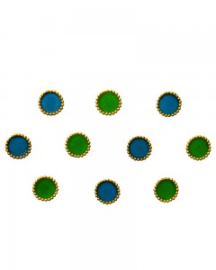 Comet Busters Beautiful Blue and Green Round Bindi