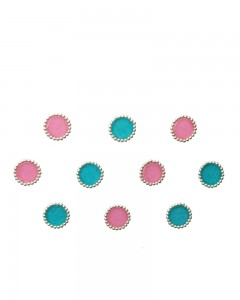 Comet Busters Beautiful Pink and Blue Round Bindi