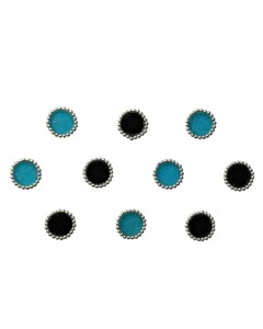 Comet Busters Beautiful Blue and Black Round Bindi