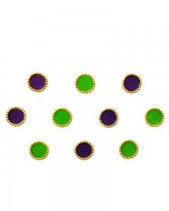 Comet Busters Beautiful Purple and Green Round Bindi