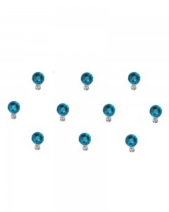 Comet Busters Diamond Collection Small Stone Blue Bindi
