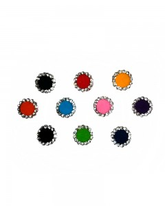 Comet Busters Diamond Collection Multi color Stone Border Bindi