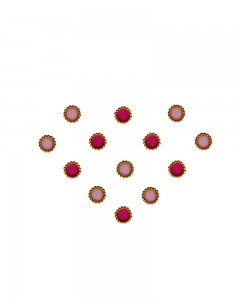Comet Busters Traditional Small Round Hot Pink Light Pink Bindi