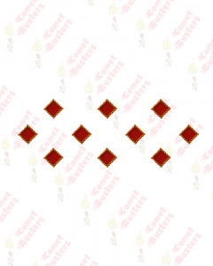 Comet Busters Red Square Bindis With Gold Beads Border