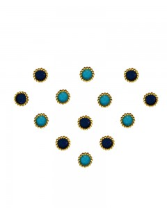 Comet Busters Traditional Small Round Blue Bindi