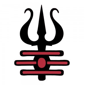 Comet Busters Trishul Red and Black Body Water Tattoo (BJ125)