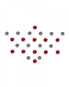 Comet Busters Diamond Collection Small Stone Red Silver Bindi