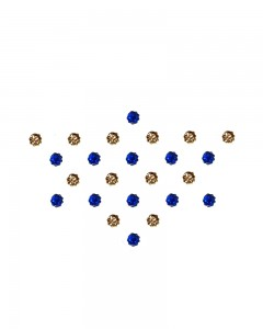 Comet Busters Diamond Collection Small Stone Blue Golden Bindi