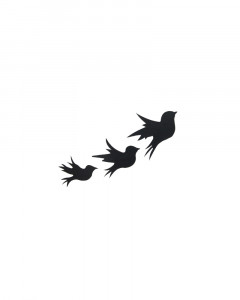Comet Busters Black Trending Flying Birds Temporary Tattoos