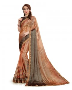 Comet Busters Beautiful Printed Georgette Saree