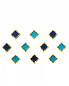 Comet Busters Blue Square Bindi