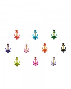Comet Busters Indian Multicolor Bindi