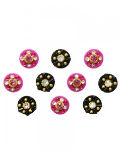 Comet Busters Beautiful Traditional Pink Black Bindi