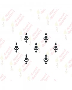Comet Busters Traditional Style Black Bindis (BIN1038)