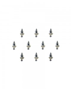 Comet Busters Silver Swarovski Crystal Bindi With Diamond