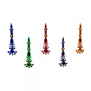 Comet Busters Multicolor Long Bindis With Stone Work (BIN1096)