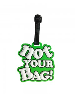 Comet Busters Luggage Tags - Not Your Bag (Green) (Pack of 1)