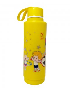 Comet Busters Yellow Printed Insulated Water Bottle For Kids (600 ML)