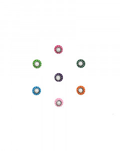 Comet Busters Multicolor Round Bindi With Pearl