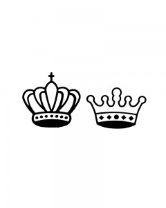 Comet Busters Temporary Couple Tattoo - Crown (Set of 2) - Cute Temporary Tattoos Stick On