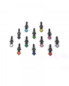 Comet Busters Traditional Black Bindi with Multicolor Squares