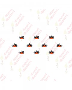 Comet Busters Traditional Orange Bindis (BIN1053)