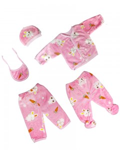 Comet Busters 5 Pcs Flannel Clothing Set For Baby (2-6 months)