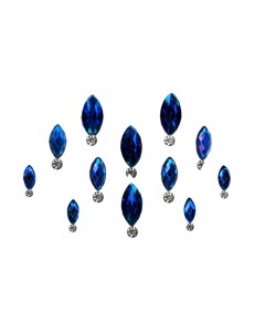 Comet Busters Dark Blue Swarovski Crystal Bindis With Diamond