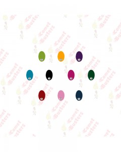 Comet Busters Multicolored Oval Bindis With Stone (10 mm)